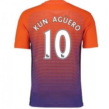 Fodboldtrøjer Premier League Manchester City 2016-17 Kun Aguero 10 3. Trøje