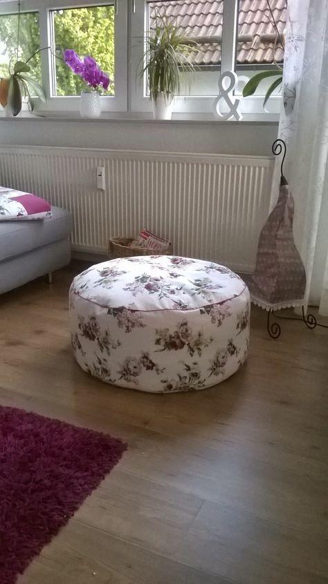 blumiger pouf schnell selbst gen ht ich lieb ugel schon wirklich lange mit einem pouf jetzt. Black Bedroom Furniture Sets. Home Design Ideas