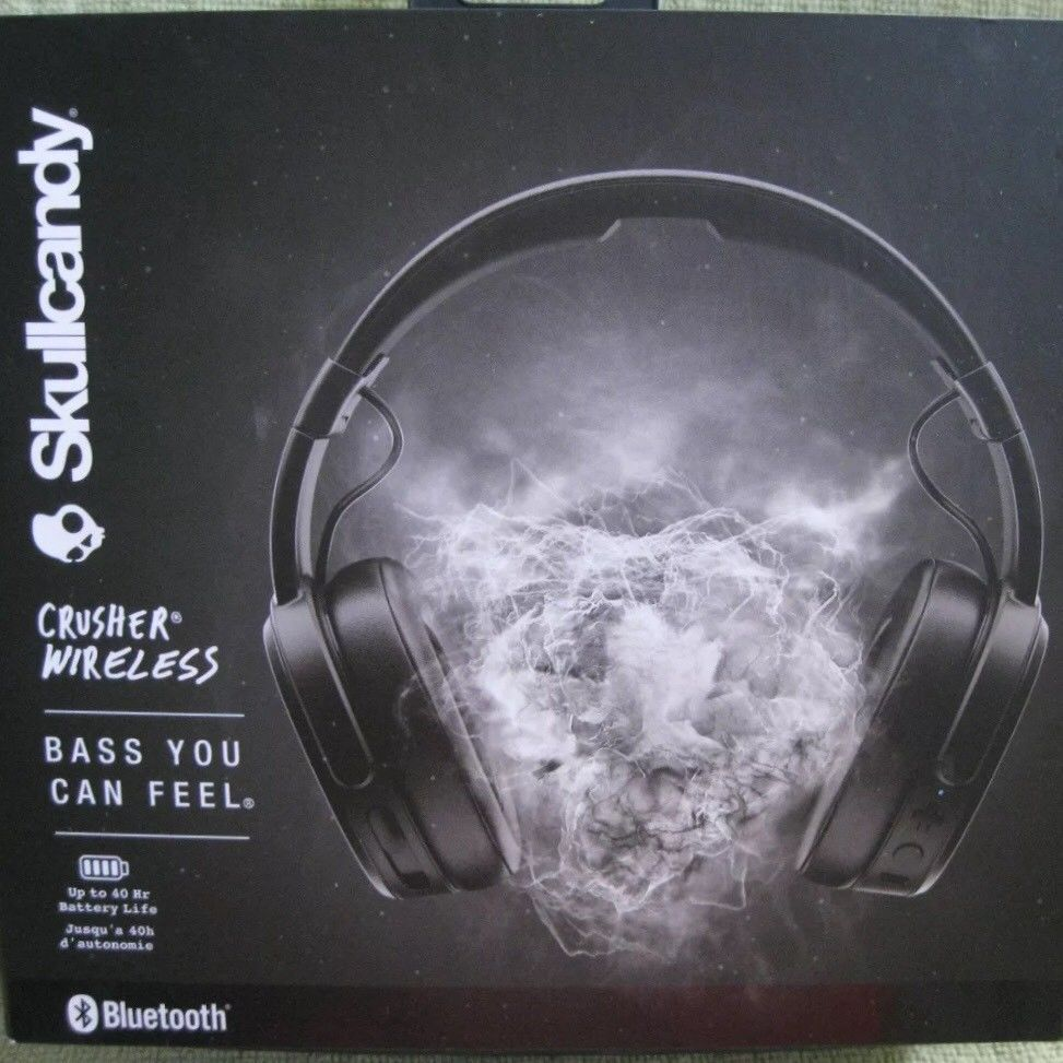 Skullcandy Crusher Wireless Bluetooth Over Ear Headphones Bass You Can Feel Ebay Skullcandy Black Headphones Over Ear Headphone
