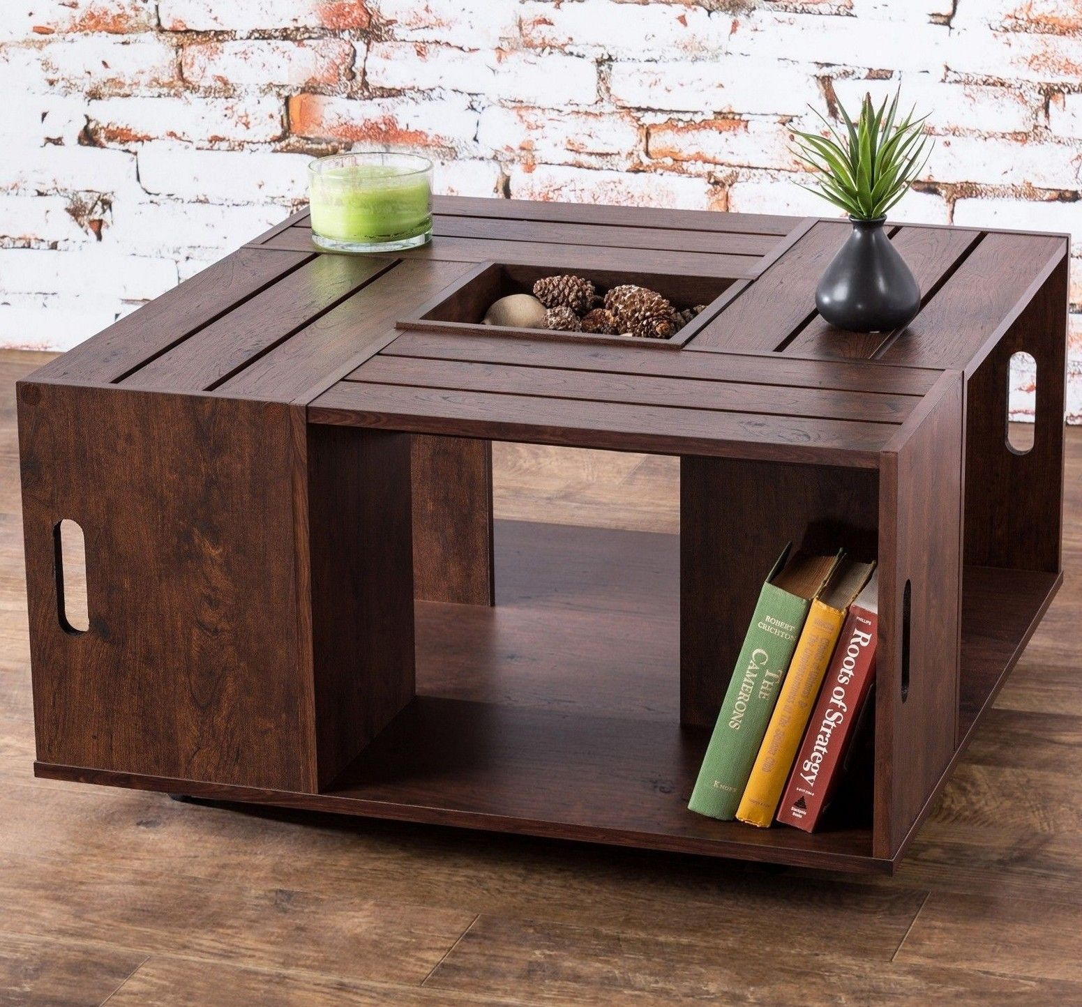 Wine Crate Coffee Table DIY Design