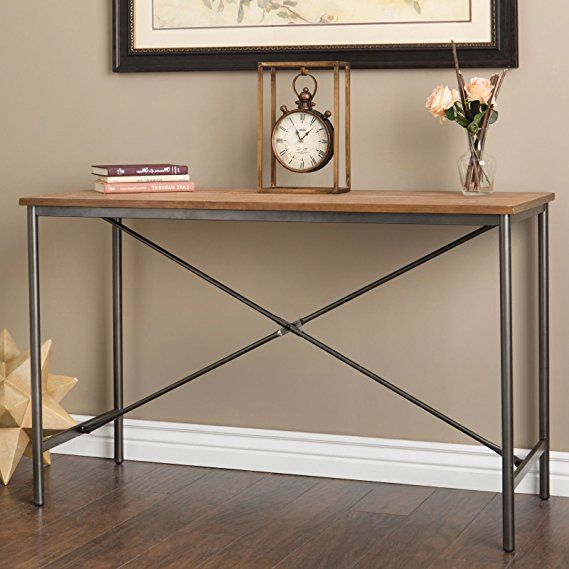 Modern Farmhouse Sofa Table Provides Vintage Style And Function 48