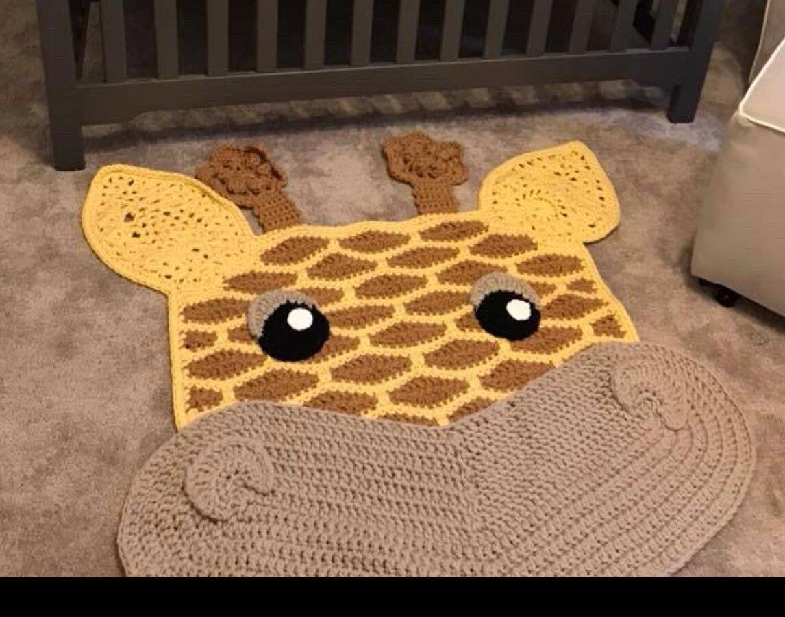 Crochet Nursery Giraffe Rug Nursery Decor Baby Shower Gift