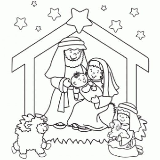 The Brilliant Stunning free printable nativity coloring pages -   - copy free coloring pages christmas lights