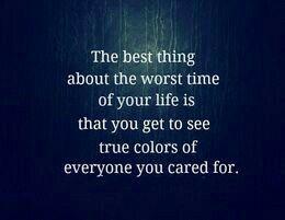 No truer words...
