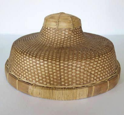 Asian Bamboo Hat Retro Japanese Paddy Hat Vintage Umbrella Rain Banana Leaves Straw Wall Basket Bamboo Hats Baskets On Wall Vintage Umbrella