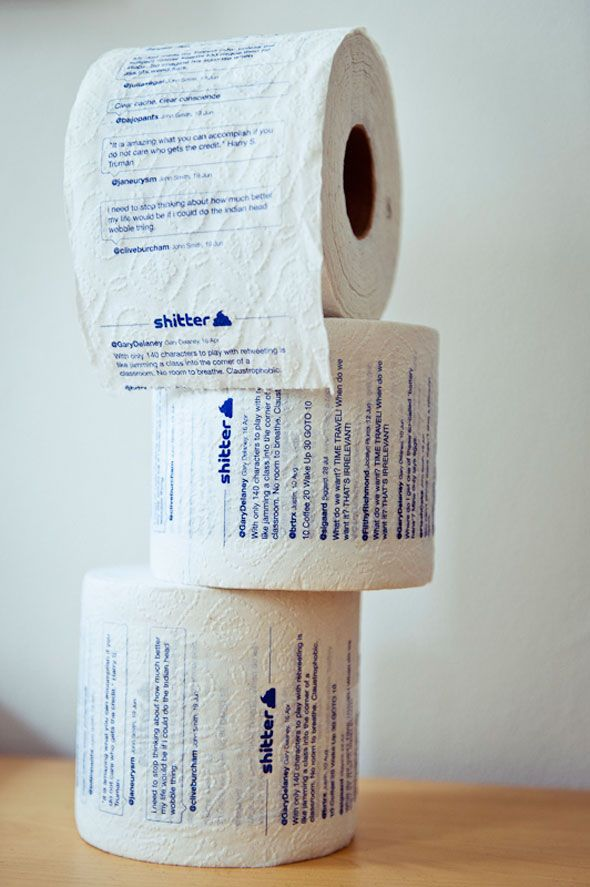 Tweets On Your Toilet Paper