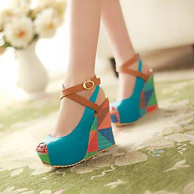 Women's Shoes Wedge Heel Peep Toe Pumps Dress Shoes More Colors available  2016 - $39.99