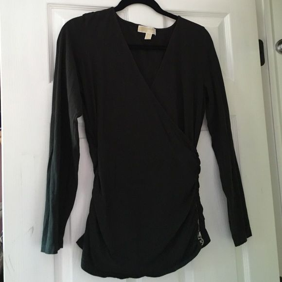 Michael Kors Black Shirt Michael Kors Black Shirt with zipper on the side. Worn once Michael Kors Tops