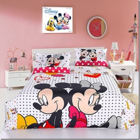 Disney Discovery Mickey And Minnie Mouse Queen Sized Bedding - Minnie mouse decoration de chambre pour bebe