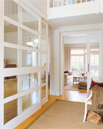 Recibidor con puertas correderas Puertas Pinterest Puertas - puertas interiores modernas