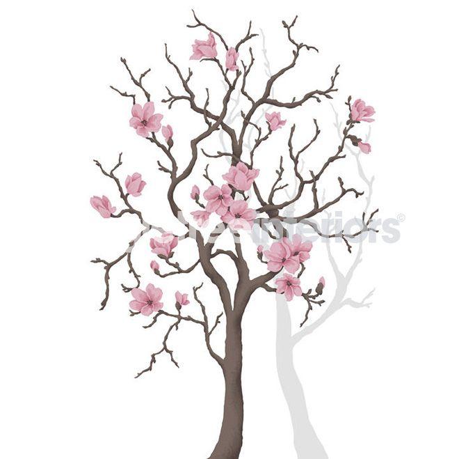 Magnolia Tree wall art from Mr Perswall  Alberi  Pinterest