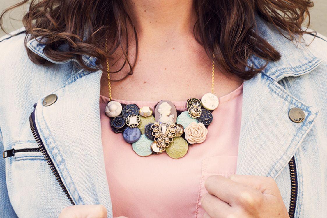 DIY Button Statement Necklace | Darby Smart | Fashion ...