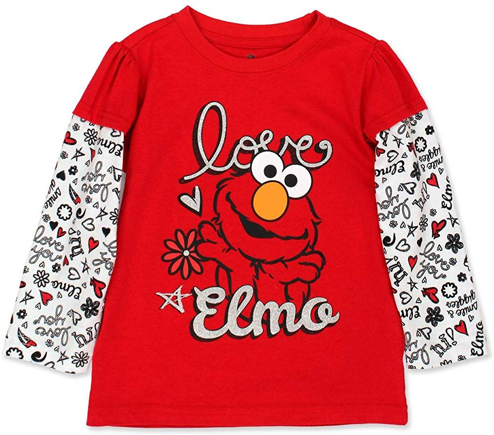ELMO Long Sleeve Shirt Size 2T 3T 4T SESAME STREET New