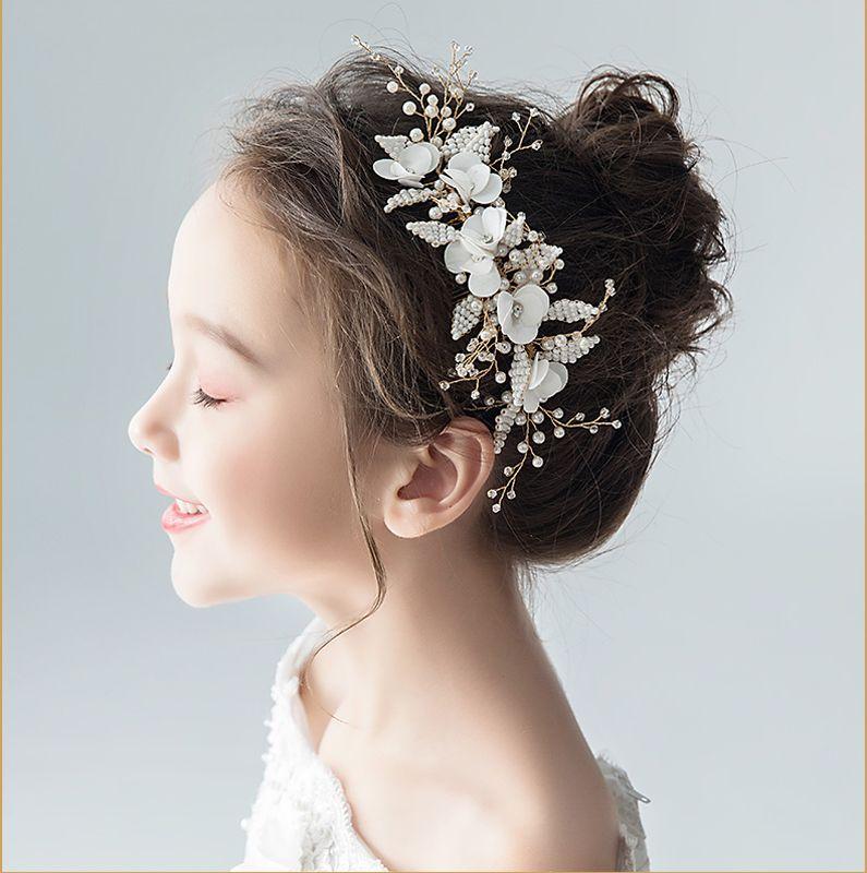 髪飾り ヘッドアクセサリー ウェディング フラワー子供 女の子
