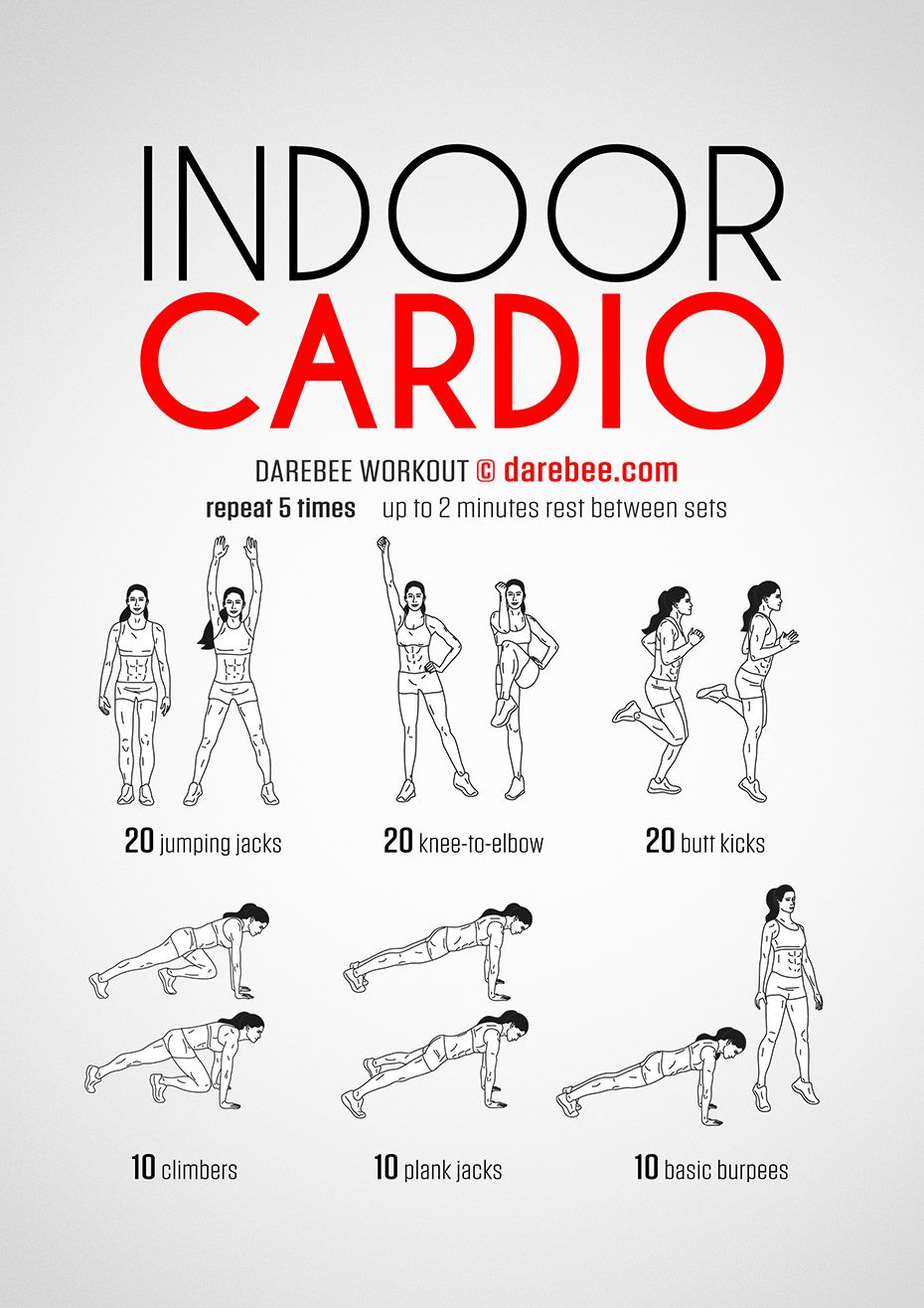 Darebee Workouts │ Indoor Cardio Workout Full Body