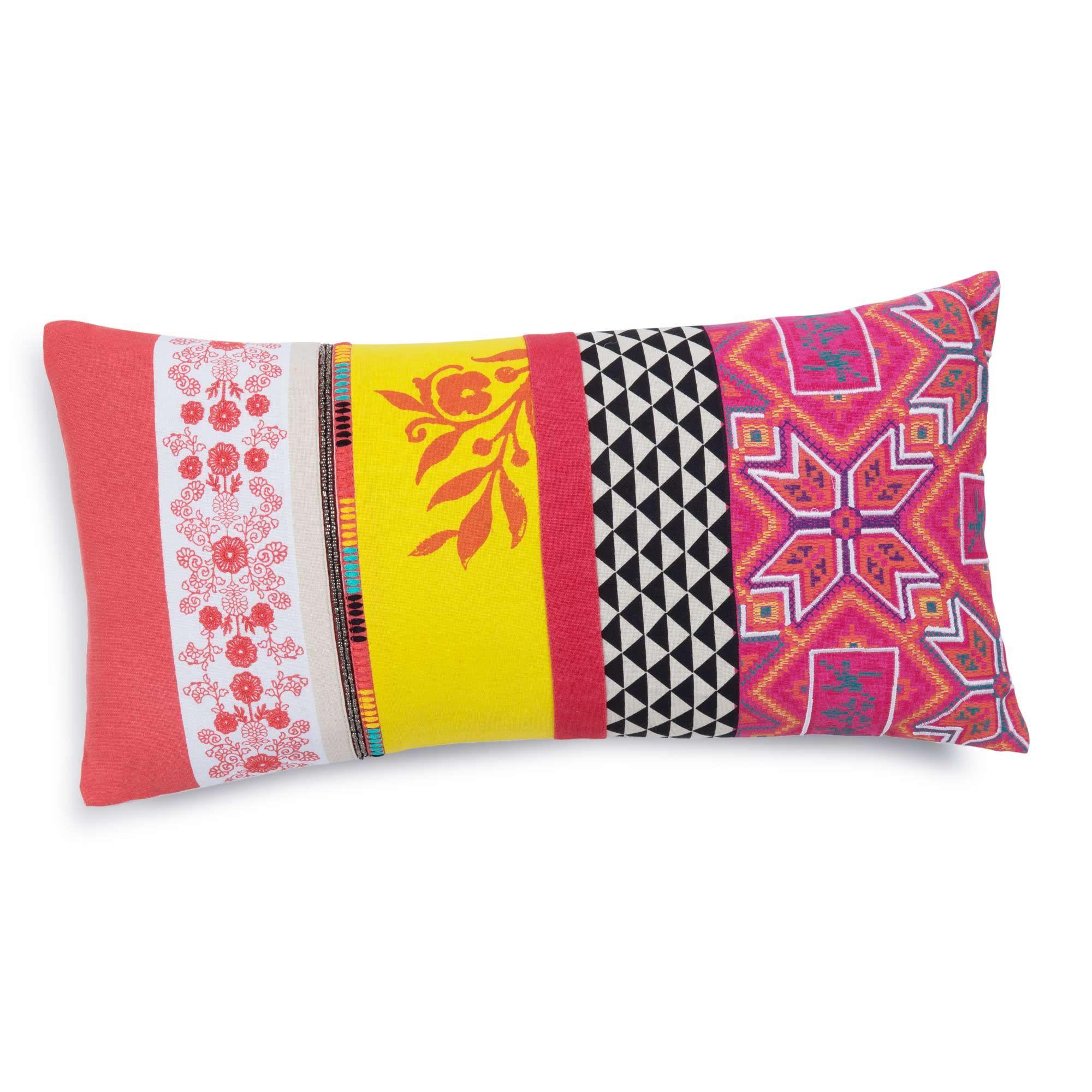coussin 25 x 50 Coussin en coton multicolore 25 x 50 cm INDIRA | Maisons du Monde  coussin 25 x 50