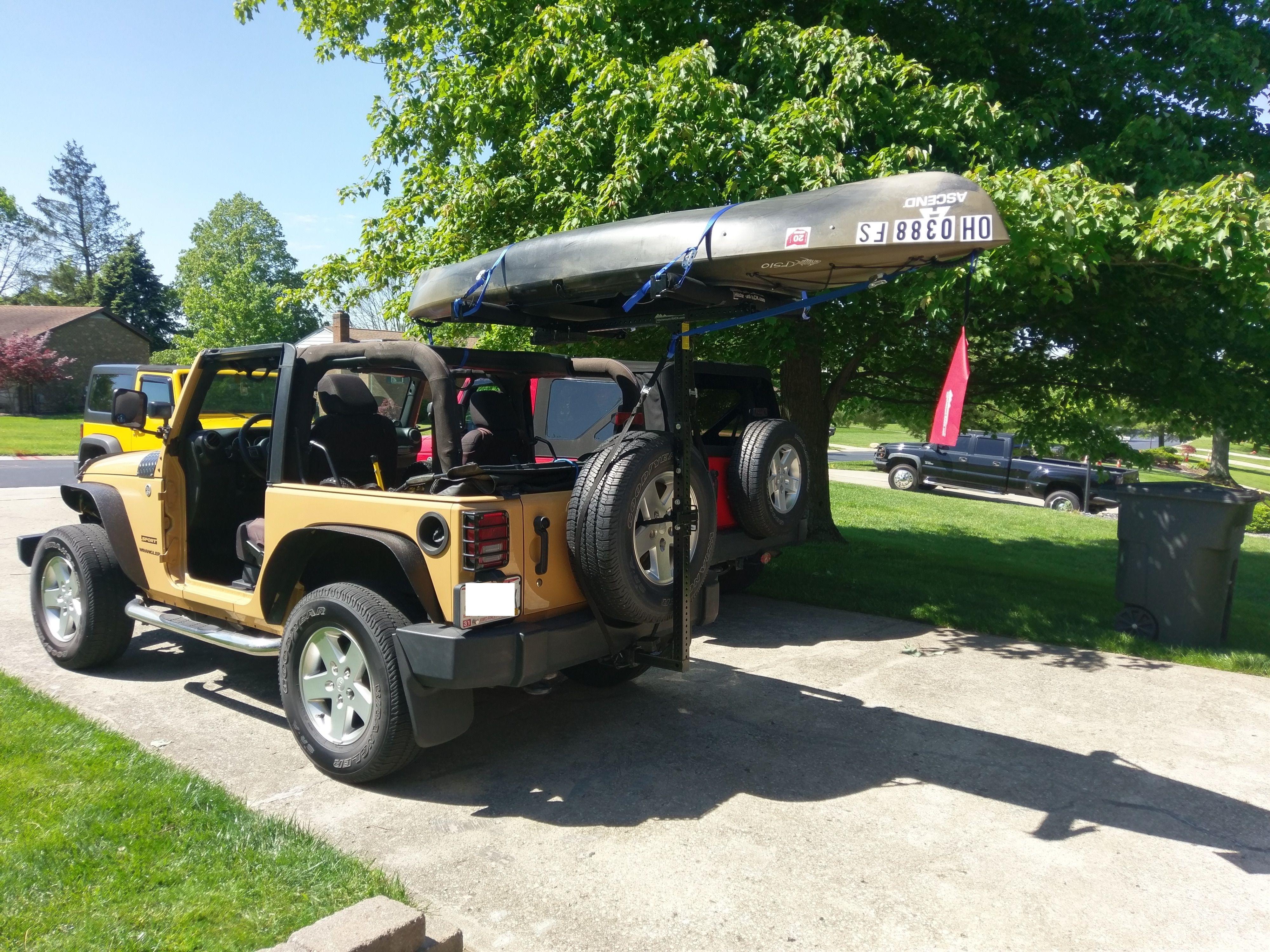 Soft Top Jeep Kayak Rack Kayak Rack Kayaking Jeep