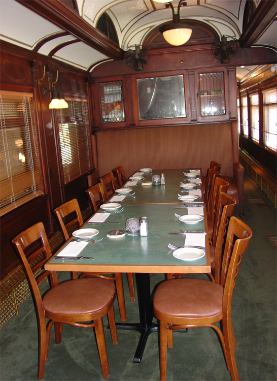 Interior Of Train Car Red As Restaurant Vonachen S Junction Peoria Il Audrey Thompson