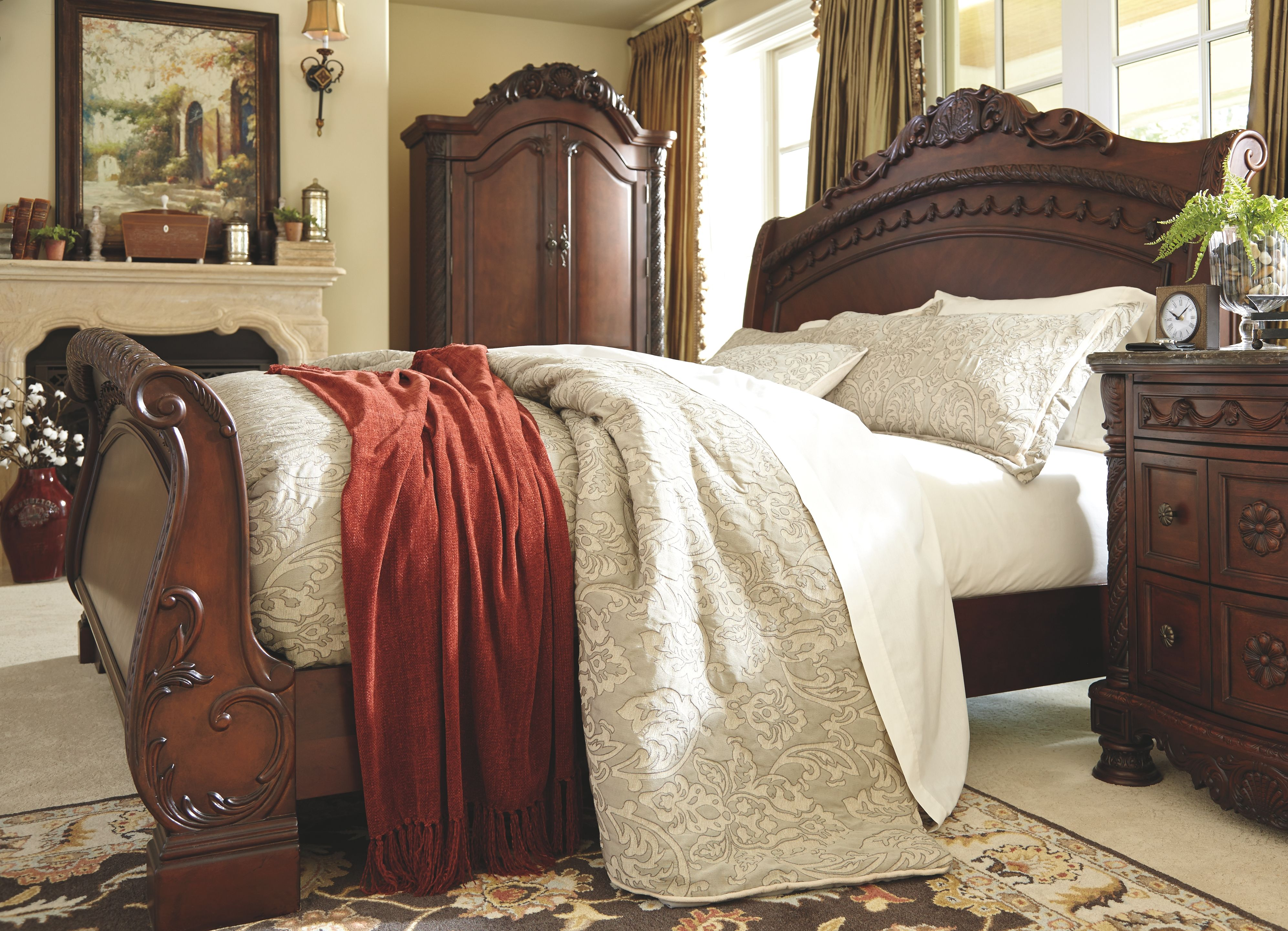 North Shore King Sleigh Bed Sleigh Bedroom Set Sleigh Beds King Sleigh Bed