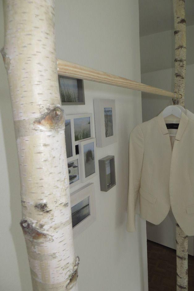 Garderoben  KleiderschrankKleiderstange aus Birke  ein