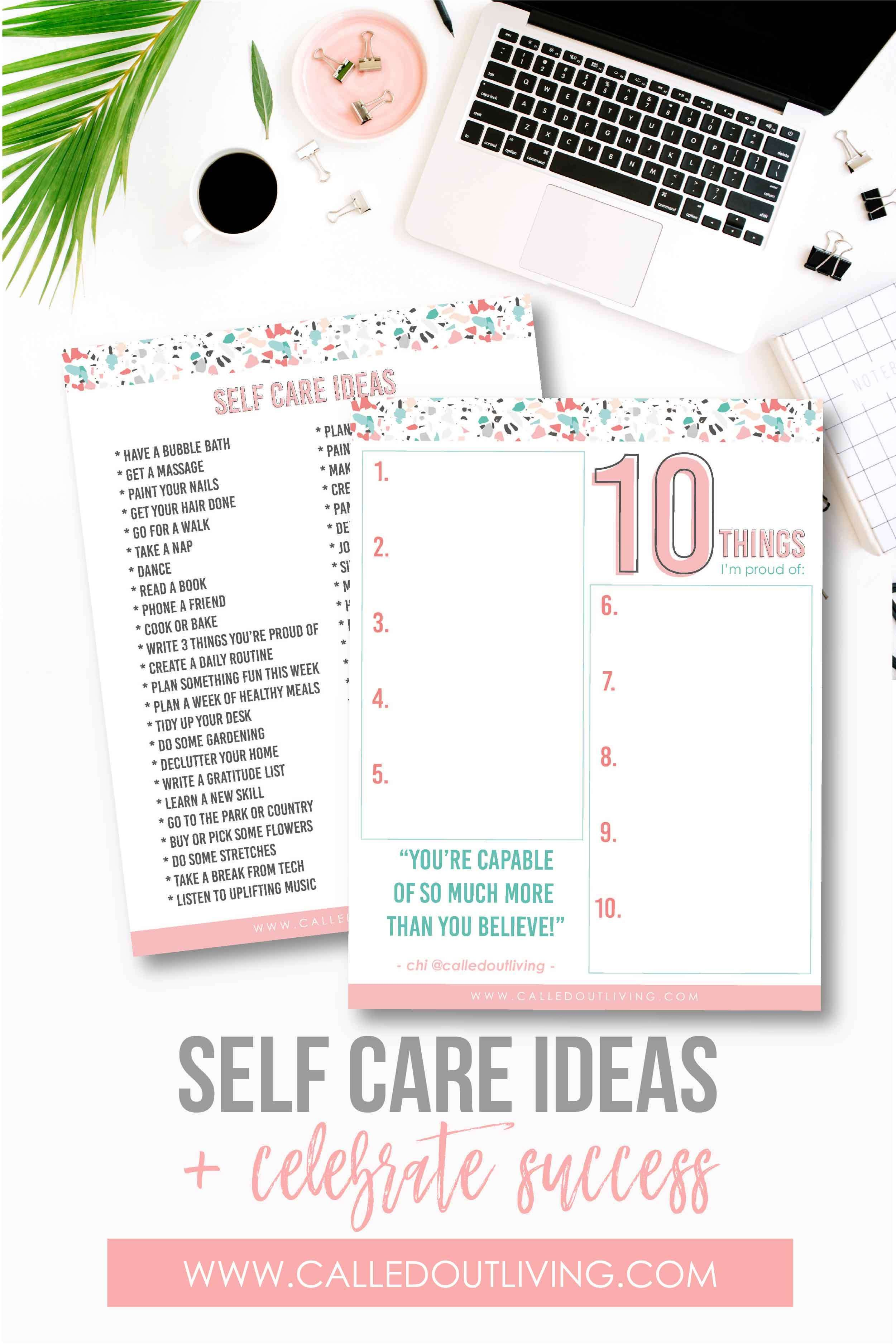 Ideas For Practising Self Care
