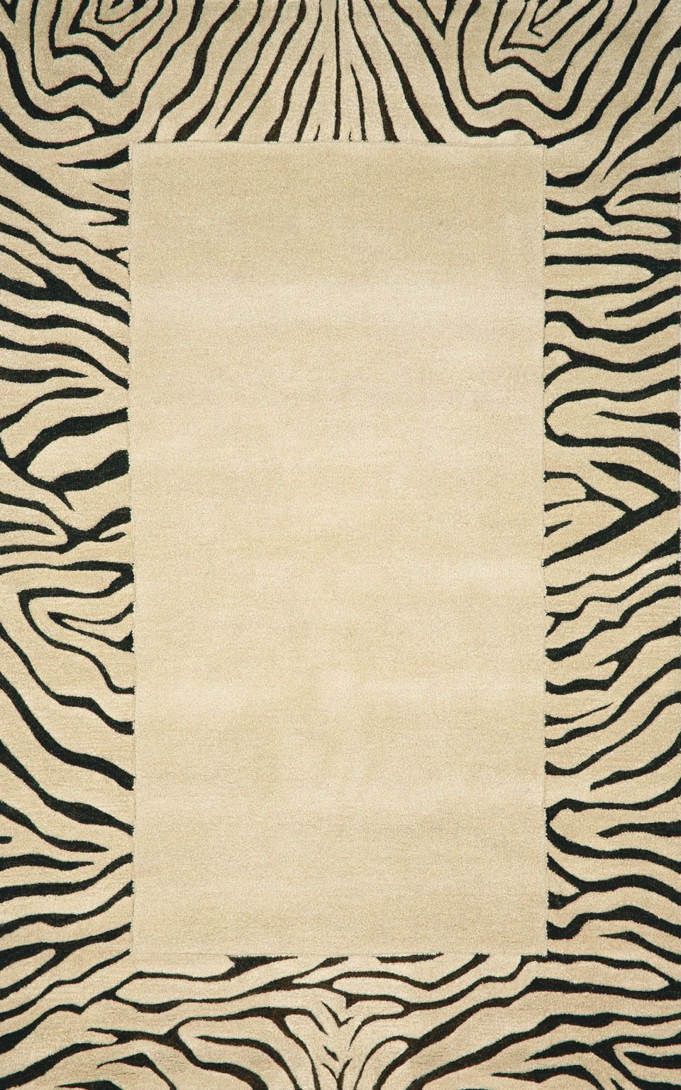 Trans Ocean Seville Neutral Tiger Border Rug Ocean Rug Hand Tufted Rugs Neutral Rugs