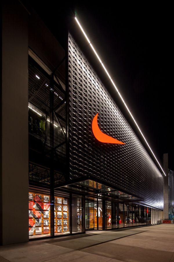 NIKE LENOX on Behance | Luminous Lighting | Facade design ...