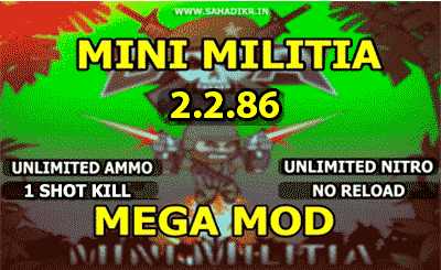 Mini Militia Mod Pro Pack And Unlimited Nitro Unlimited Ammo One
