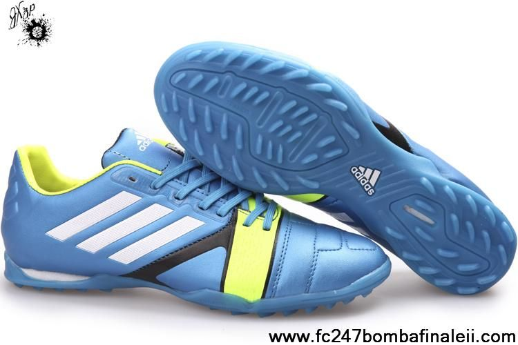 Low Price Spar Blue White Light Green Adidas Nitro Charge Soccer Boots On Sale