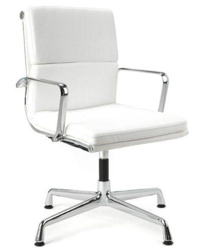 Director Soft Pad Office Chair With No Wheels White Also Comes