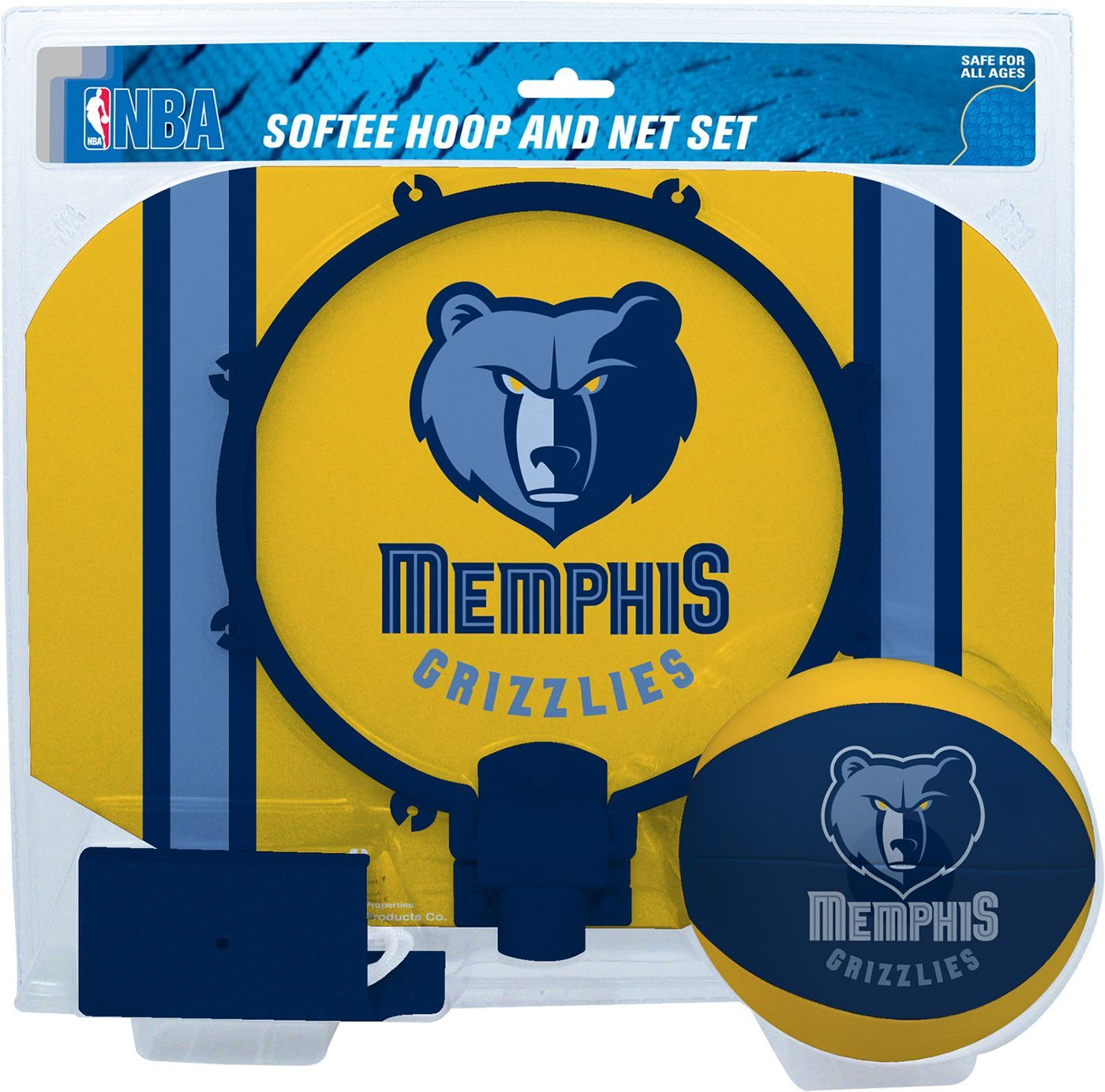 Rawlings Memphis Grizzlies Softee Basketball Hoop and Ball