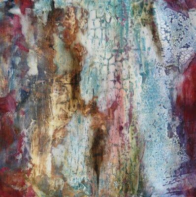 Mixed Media Abstract Painting Roman Walls by Santa Fe Contemporary Artist Sandra Duran Wilson -- Sandra Duran Wilson