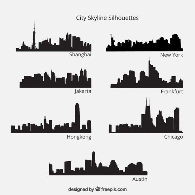 City Skyline Decal Skyline Silhouette Vinyl Wall Decals Etsy Building Silhouette Cityscape Silhouette Skyline Tattoo