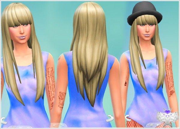 David Sims Super Long Hair With Bangs Sims 4 Downloads Long Hair With Bangs Hairstyles With Bangs Long Hair Styles