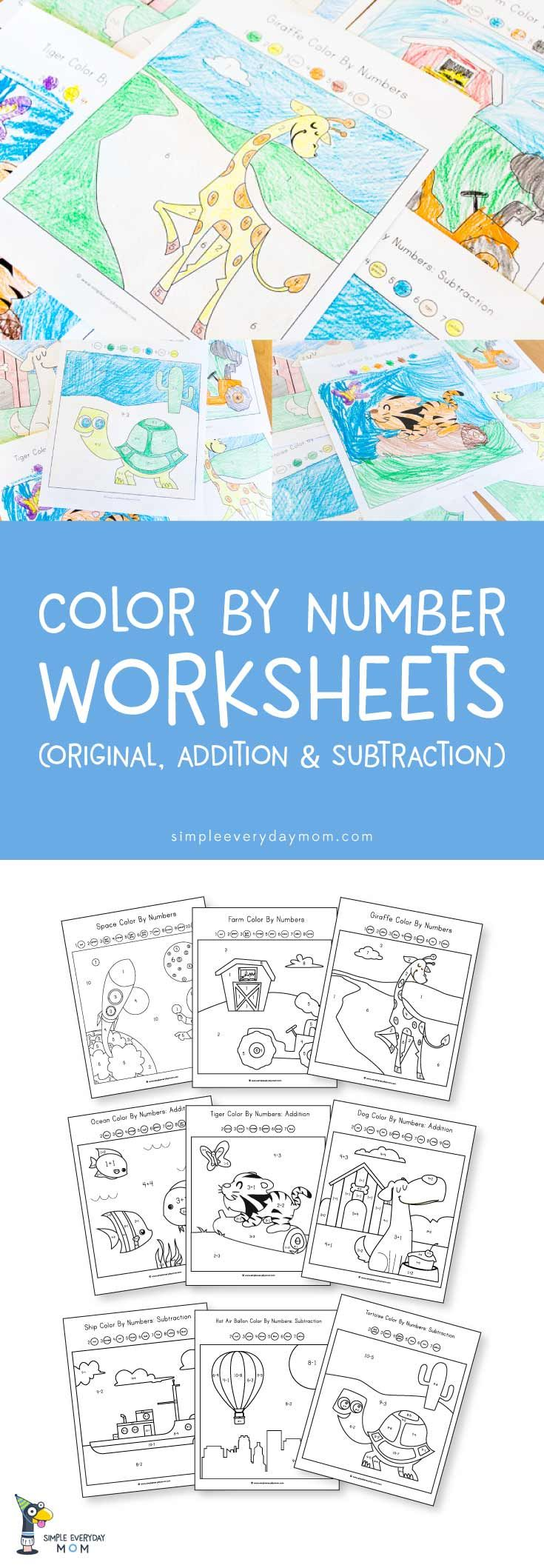 9 Fun Color By Number Worksheets That Teach Math The Easy Way | Mom ...