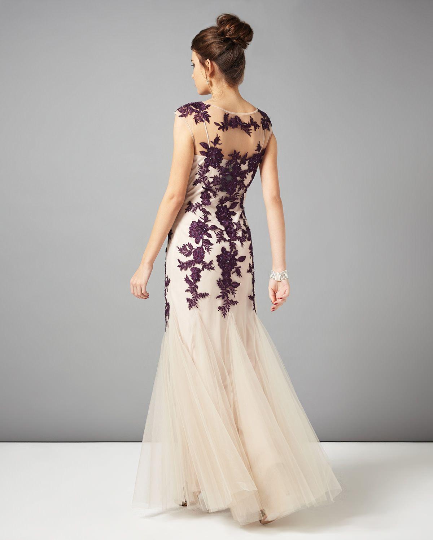 Dresses neutral rita tulle full length dress phase eight not