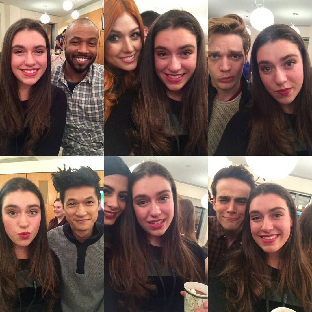 """The #Shadowhunters cast with a fan at the Superfan party.  Photo credit: @kellen__marie."""
