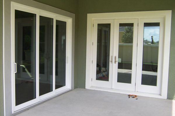 Pgt Winguard Vinyl Triple Panel Sliding Glass Door Sliding Doors