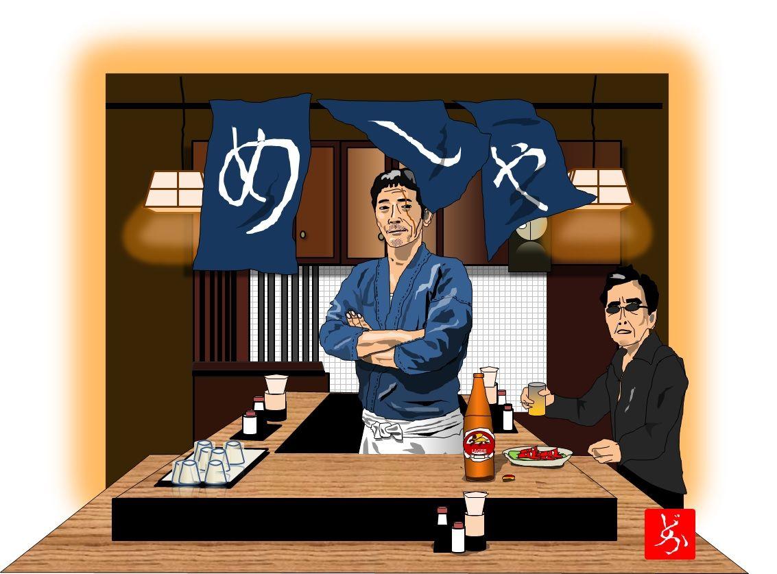 深夜の飯テロ番組のはしりとなった「深夜食堂」。新宿ゴールデン街らしき「めしや」の世界は変わらない。 パーツ数410。