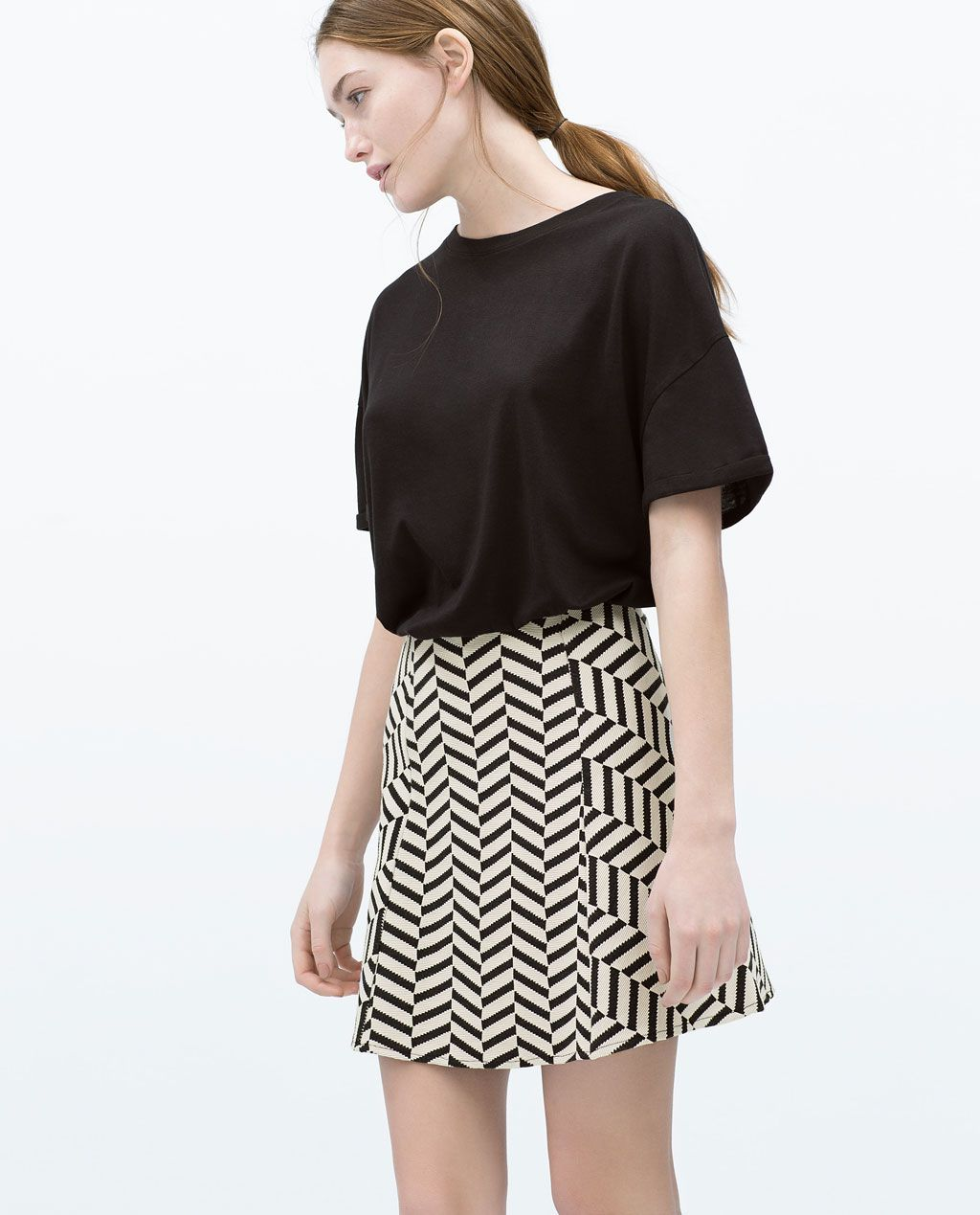 732996c93fd3 Image 1 of JACQUARD MINI SKIRT from Zara | Wears | Pinterest | Mini ...