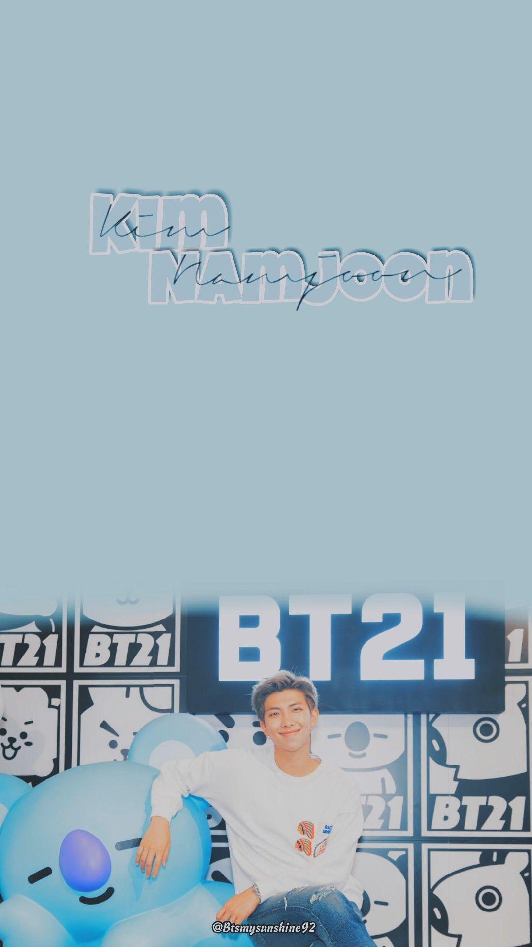 Kim Namjoon X Bt21 Bts In 2018 Pinterest Bts Namjoon And