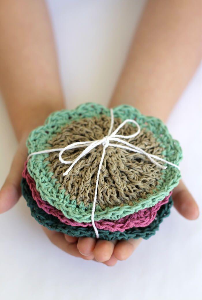 Crocheted Hemp Scrubbies - Free Pattern | crochet/knit | Pinterest