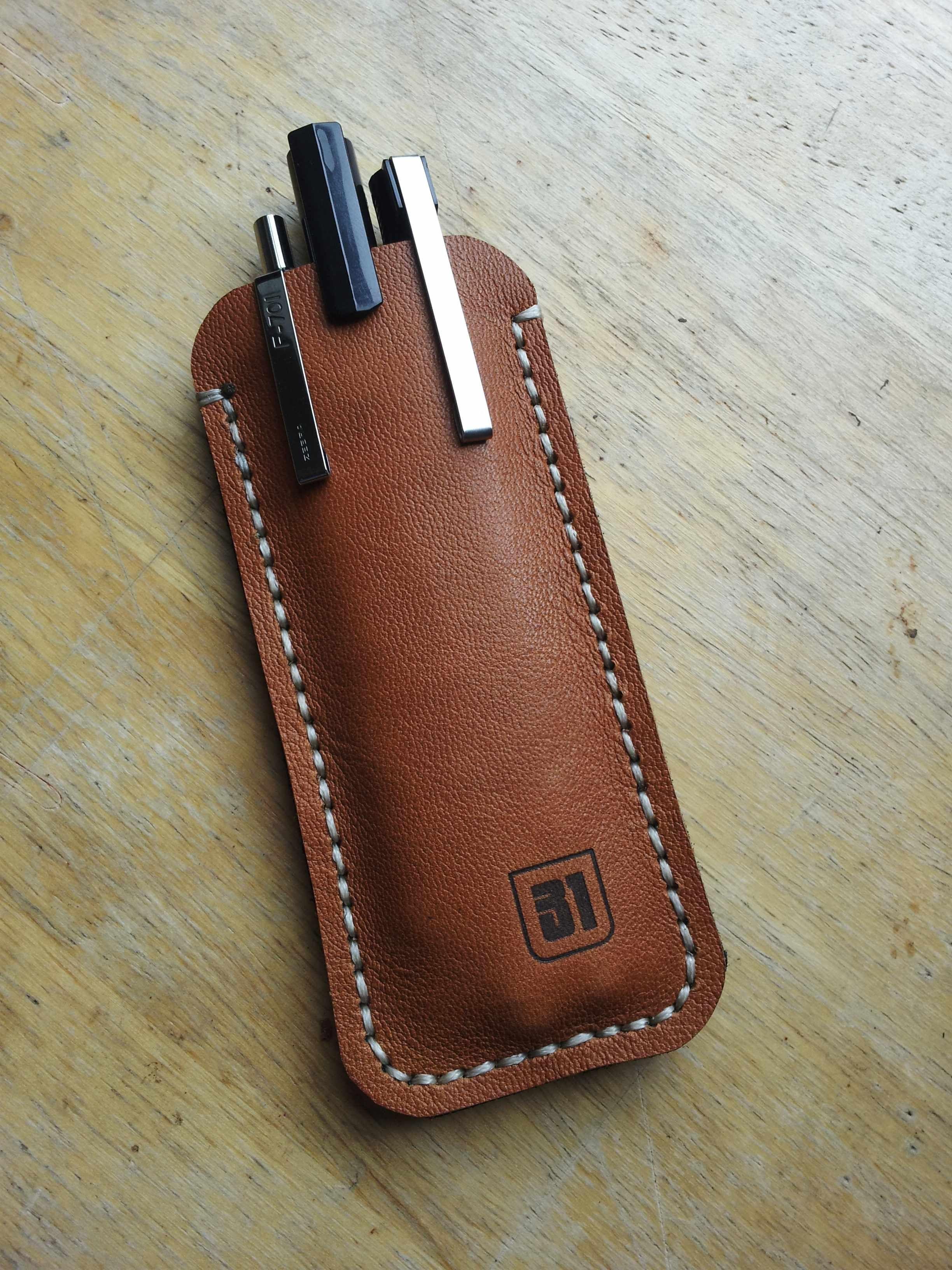 leather artist pencil case