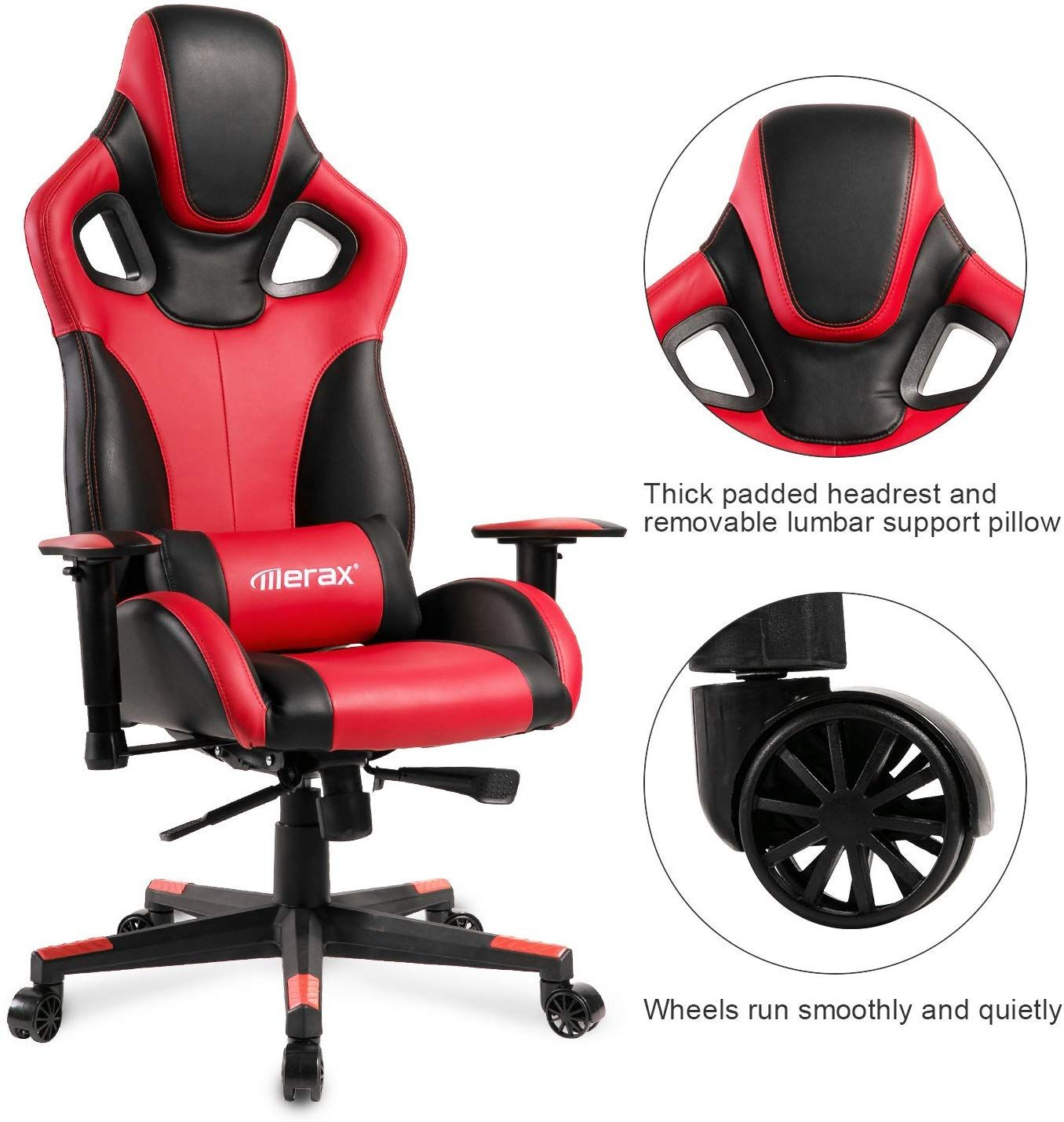 Merax Racing Style Office Chair Gaming Ergonomic with
