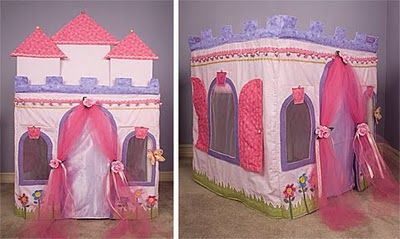 "Card Table Playhouse Pattern ""Princess Dream Castle"""