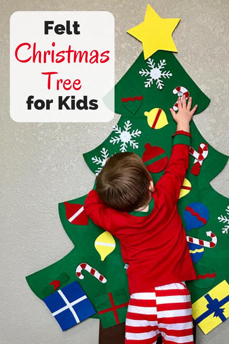 Kids Felt Christmas Tree - 34 decorative objects, kids felt ...