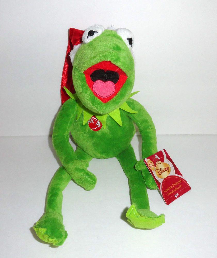 KERMIT Christmas Singing Plush Doll JINGLE BELLS #kermitthefrog ...