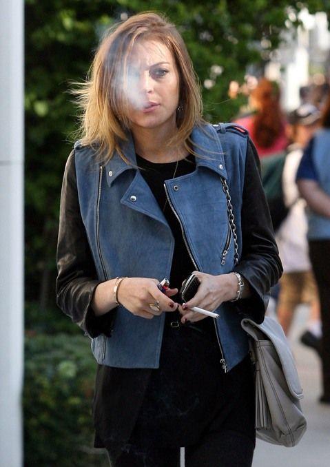 Hilary Duff Smoking Cigarettes