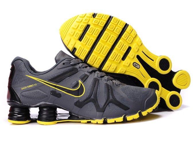 Nike Shox Turbo+ 13 Men's Running Shoe Gray Yellow