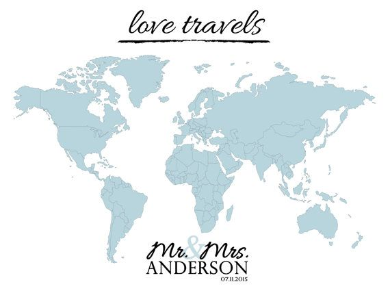 Wedding guest book sign or world map poster use this map print as wedding guest book sign or world map poster use this map print as an alternative gumiabroncs Choice Image